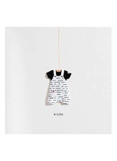 Wogi Baby Wogi Baby Elma Kabartmalı 2'li Tulum Set WG-5238 Siyah